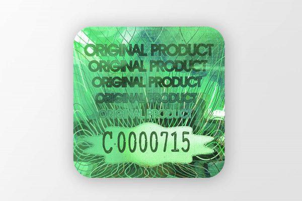 hologram ekspress zielony