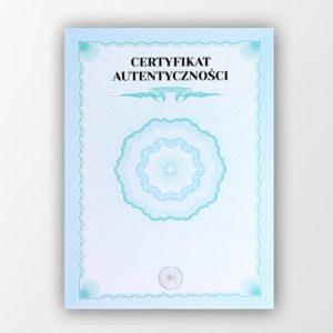 certyfikat autentycznosci