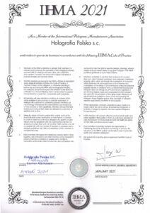 Certyfikat IHMA 2021