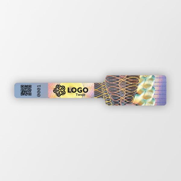 Plomba holograficzna zabezpieczająca z logo, Holo Seal 1, 10 x 50 mm #1