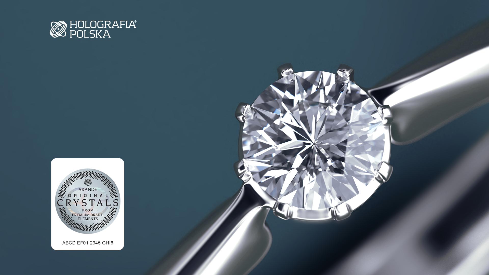 Etykieta premium uszlachetniona - biżuteria Arande