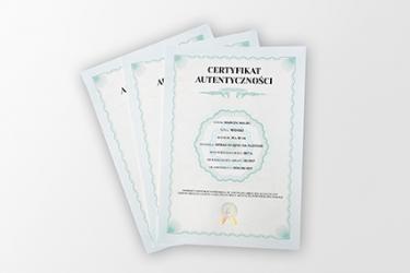 certyfikat standardowy